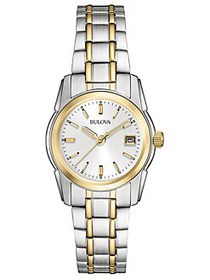 Bulova Ladies' Classic Two-Tone Stainless Steel Wa