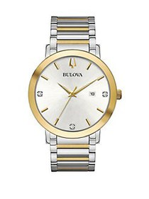 Bulova Modern Stainless Steel Bracelet Watch TWO T