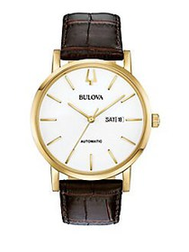 Bulova Classics American Clipper Automatic Leather