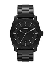 Fossil Mens Black Machine Round Watch BLACK