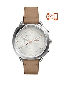 Fossil Hybrid Smart Watch - Q Accomplice Sand Leat