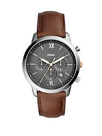Fossil Neutra Chrono Chronograph Leather-Strap Wat