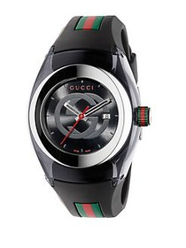 Gucci Sync Stainless Steel Rubber Watch BLACK
