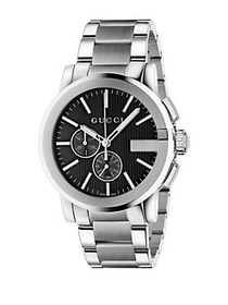 Gucci G-Chrono Stainless Steel Watch SILVER