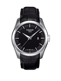 Tissot T-Classic Couturier Leather-Strap Watch BLA