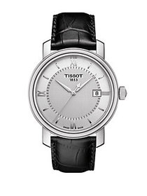 Tissot Mens Bridgeport Stainless Steel Leather Str