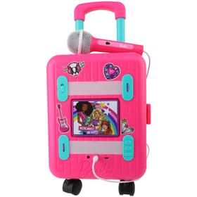 Barbie Molded Karaoke Machine Suitcase and Doll Ca