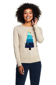 Lands End Women's Supima Cotton Christmas Sweater