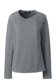 Lands End Women's Plus Size French Terry Heather M