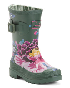 JOULES Floral Rain Boots (Toddler)