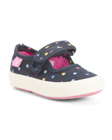 JOULES Dot Canvas Maryjanes (Toddler)