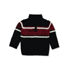 Sezzit Boys' Marbled Chest Mock Neck Sweater