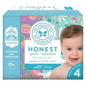 Honest Company Baby Diapers, Size 4, Pastel Tribal