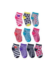 Hanes Girls Socks, 10 Pack Ankle Fashion (Little G