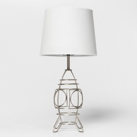 Space Ship Wire Table Lamp Silver - Pillowfort