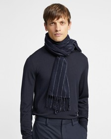 Wool-Cashmere Scarf with Fringe