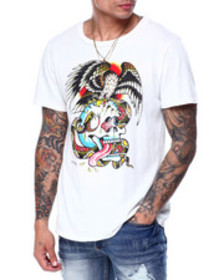 Ed Hardy battle skull tee
