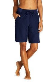 "Lands End Women's Comfort Waist 9"" Board Shorts"