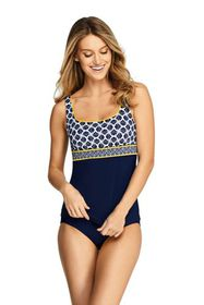 Lands End Women's Square Neck Underwire Tankini To