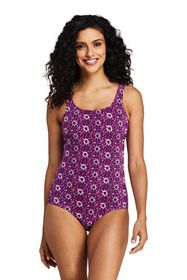Lands End Women's Tugless One Piece Swimsuit Soft