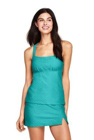 Lands End Women's Texture Portrait Back Tankini To