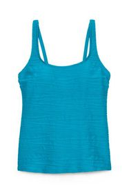 Lands End Women's Texture Scoop Tankini Top