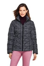 Lands End Women's Print Down Puffer Jacket