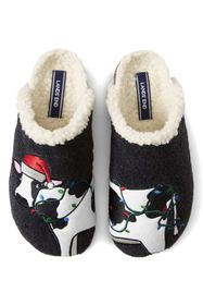 Lands End Women's Felt Scuff Slippers