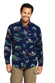 Lands End Men's Traditional Fit Printed Flagship F