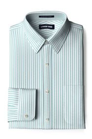 Lands End Men's Pattern No Iron Supima Pinpoint St