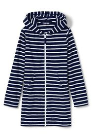 Lands End Girls Stripe Kangaroo Pocket Swim Cover-