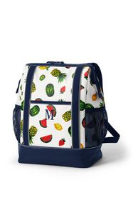 Lands End Print Coated Canvas Insulated Backpack C
