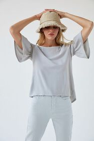 Truly Madly Deeply Ruffle Sleeve Tee