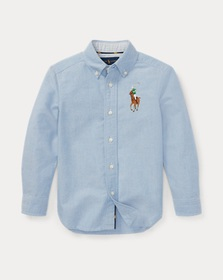 Boys 2-7 Big Pony Cotton Oxford Shirt