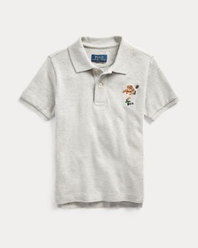 Boys 2-7 Kicker Bear Cotton Mesh Polo