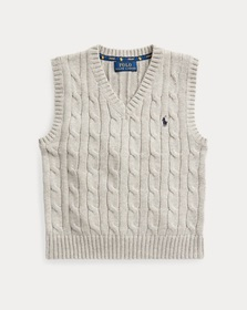 Boys 2-7 Cable-Knit Cotton Sweater Vest