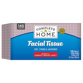 Complete Home Facial Tissue Flat Box, Assorted Sty