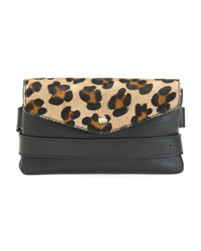 GARUGLIERI Made In Italy Leather Leopard Haircalf