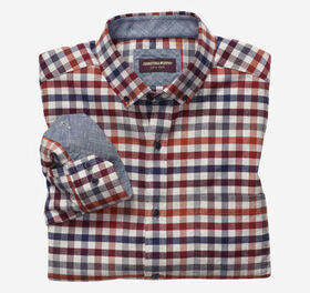 Johnston Murphy Brushed Button-Collar Shirt