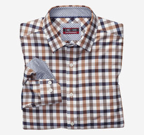 Johnston Murphy XC4® Large Twill Gingham Point-Col