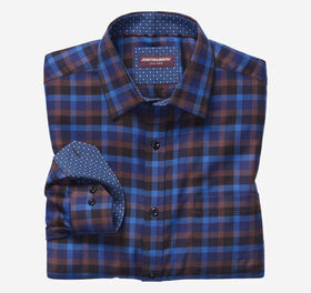 Johnston Murphy European Dark Herringbone Gingham