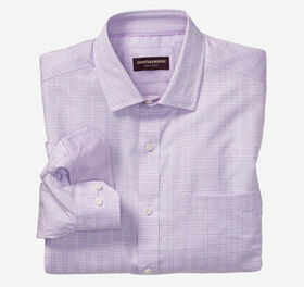 Johnston Murphy Textured Windowpane Dress Shirt
