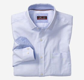 Johnston Murphy XC4® Mini Woven Check Point-Collar