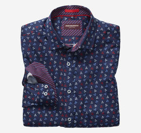 Johnston Murphy Skull Print Shirt