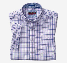 Johnston Murphy XC4® Windowpane Button-Collar Shor