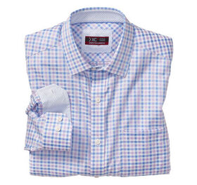 Johnston Murphy XC4® Mini Gingham Point-Collar Shi