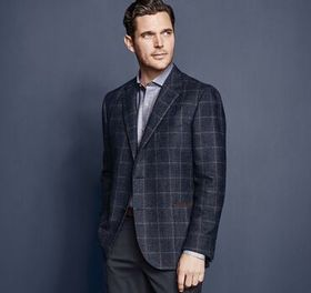 Johnston Murphy Italian Windowpane Blazer