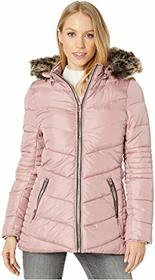 YMI Snobbish Polyfill Puffer Jacket with Faux Fur