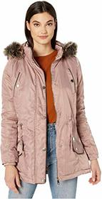 YMI Snobbish Faux Fur Lined Parka with Faux Fur Tr