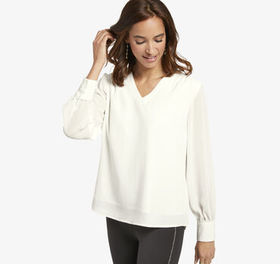 Johnston Murphy V-Neck Blouse